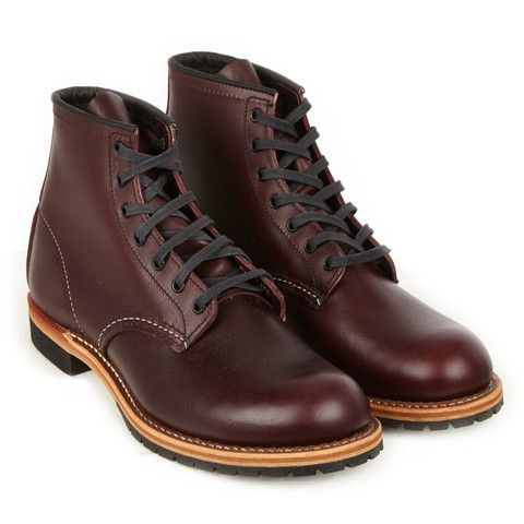 Red Wing | The Hip Store - Part of the Beckman collection. The 9011 is a 6-inch,  round toe style boot made from exclusive black cherry featherstone dress ...