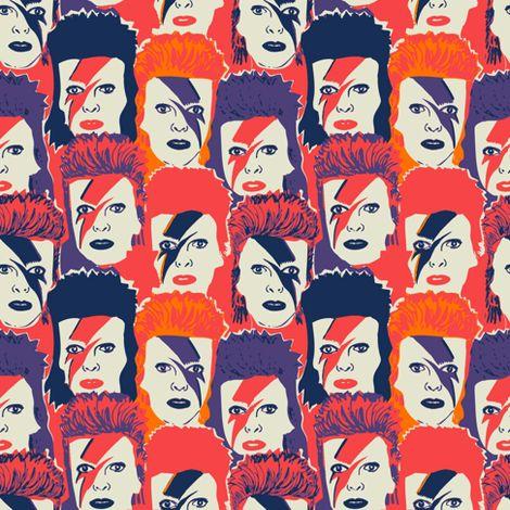 Glam David Bowie Fabric