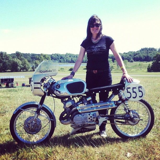 Triple Nickel 555 ladies t-shirt. #caferacer
