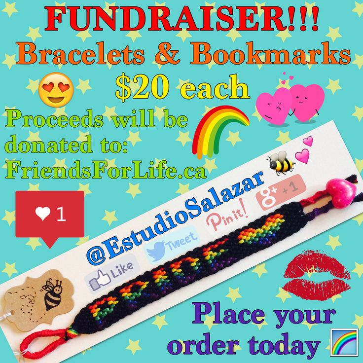 #FUNDRAISER!!! 🌈🎉 #Bracelets & #Bookmarks 👍🏼👍🏼 #Proceeds will be #donated to: #FriendsForLife.ca 🐝💕 #Bee #art #crafts #artist #creative #handmade #custom #diy #Pride #LGBT #equality #lesbian #gay #bisexual #transgender #love #charity #donate #give