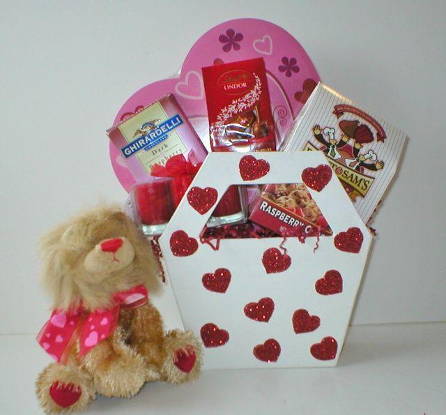 171 best diy valentine gift ideas images on pinterest valentines valentines day homemade gift baskets valentines day gift negle Images