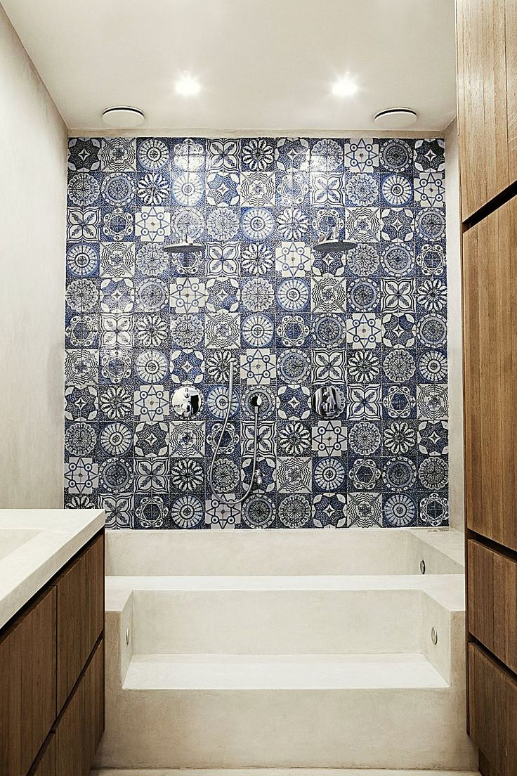 I love Moroccan tiles. Not sure if I could handle a whole wall of them, but definitely some elements.