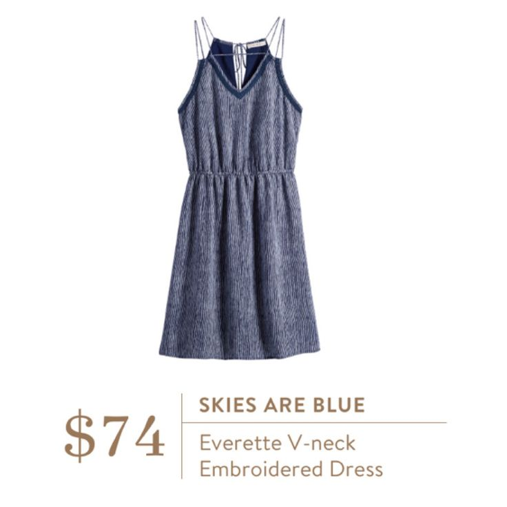**** Skies are Blue V-neck embroidered dress. Love this dress! Great fit and style. Stitch Fix Fall, Stitch Fix Spring Stitch Fix Summer 2016 2017. Stitch Fix Fall Spring fashion. #StitchFix #Affiliate #StitchFixInfluencer