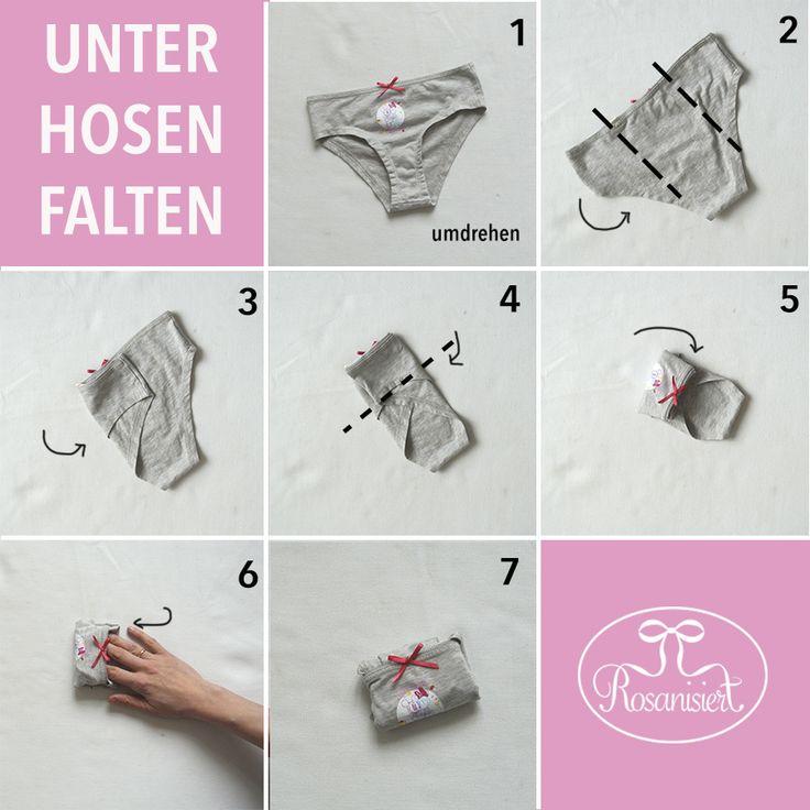 Ordnung im Kleiderschrank – platzsparend Kleidung zusammenlegen