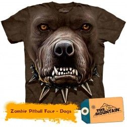 Zombie Pitbull Face - Dogs