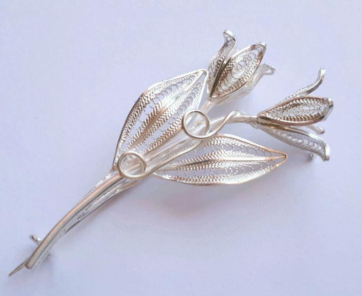 Handmade Silver Filigree Brooch