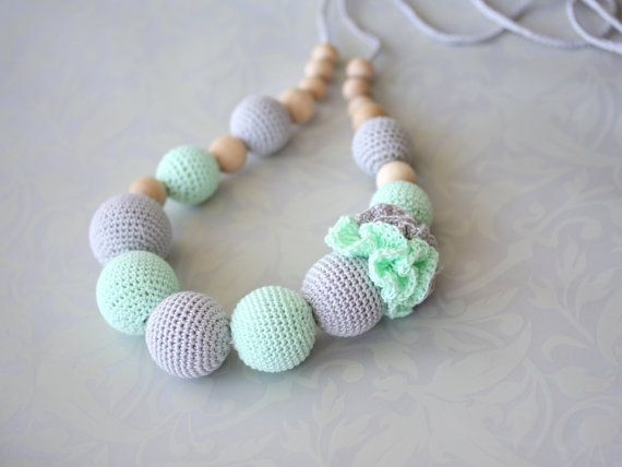 Crochet cotton Nursing necklace Fashion Accessory by ForeverValues, $29.00