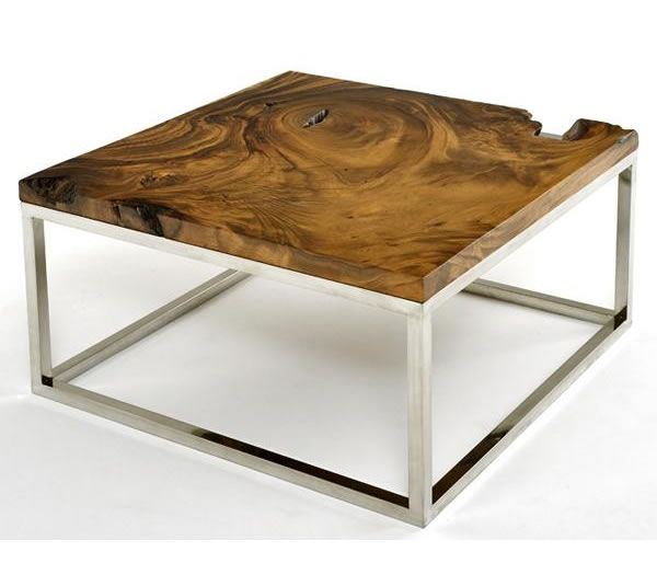 Rustic One Of A Kind Natural Teak Wood Slab Coffee Table: 17 Best Images About Furniture On Pinterest