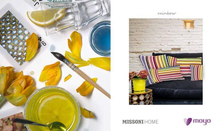 Over the rainbow..... Almofada Rainbow da Missoni Home disponível em vários tamanhos!