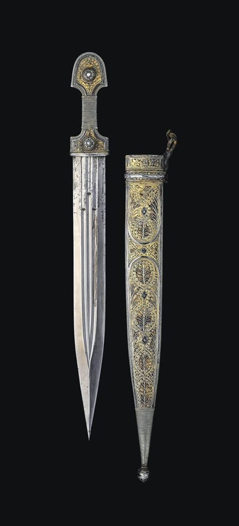 A CAUCASIAN DAGGER (KINJAL) -  PROBABLY GEORGIA, DATED 1913 AD