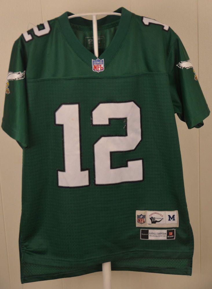 056b2ef3d44 Reebok Philadelphia Eagles Throwback Jersey #12 Randall Cunningham Youth  Medium #Reebok #PhiladelphiaEagles