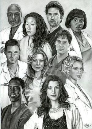 Grey's Anatomy Cast Members | Grey's Anatomy Cast | Flickr - Photo Sharing! ¿¡Esta hecho a lapiz!? No lo puedo creer esta genial