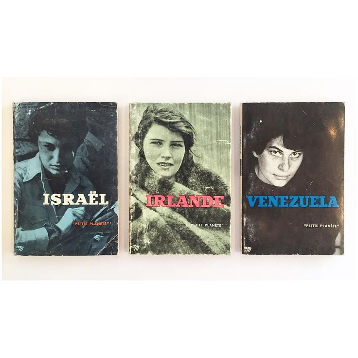 """Israël, Irelande, Venuzuela. 3 volumes from the """"Petite Planète"""" series edited by Chris Marker and published by Éditions Du Seuil."""