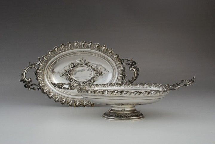 Pair of noerococo style dishes, Heilbronn