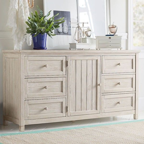 PB Teen Beadboard Wide Dresser, Chestnut at Pottery Barn Teen -... ($770) ❤ liked on Polyvore featuring home, furniture, storage & shelves, dressers, espresso color furniture, wood furniture, pbteen, dark brown furniture and wooden furniture