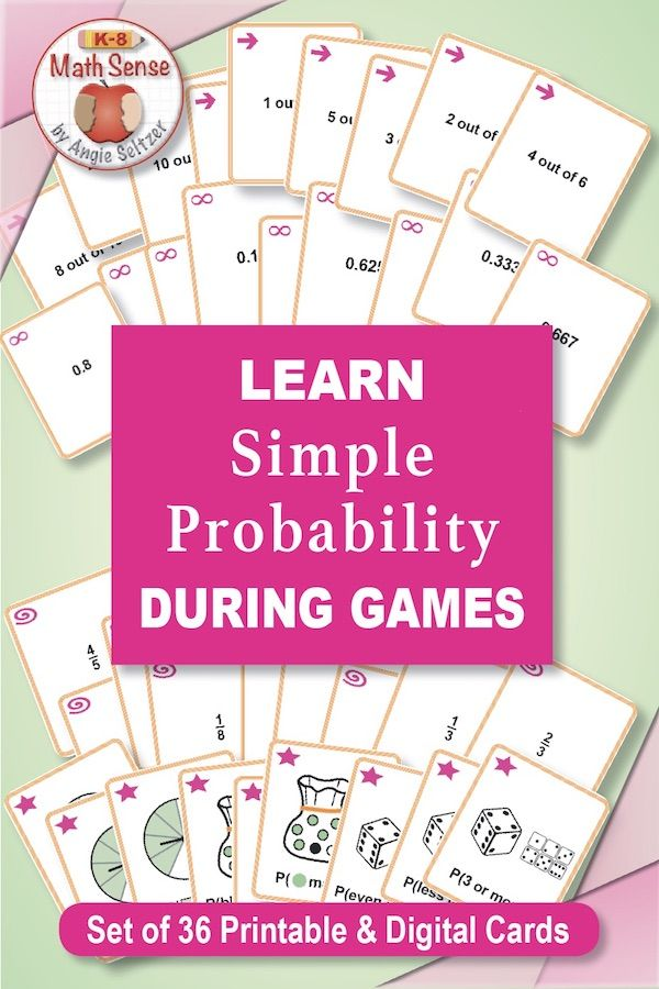 Simple Probability Card Games In 2020 Math Games Middle School Simple Probability Middle School Math