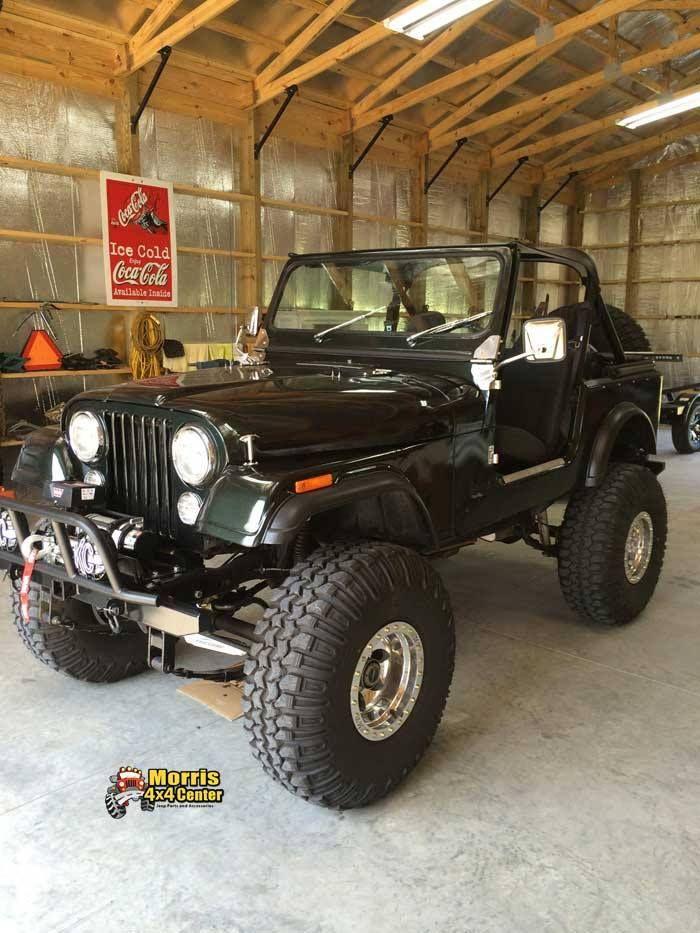 CJ Jeep, built with Morris 4x4 parts.
