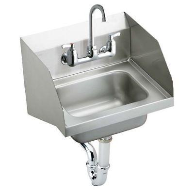 Elkay CHS1716LRSC 18GA Stainless Steel Sink w/Commercial Faucet