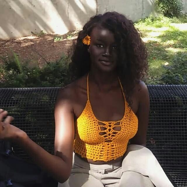 Khoudia Diop Charcoal Black African Model Who Doesn't Believe In Bleaching - Celebrities - Nigeria