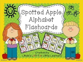 These Apple ABC Flashcards can be used for fall, back to school, or all year round for letter recognition, alphabet sequencing, and matching capital and small letters. Both a color and blackline version are included.  Use the blackline version for children to color and cut for take-home practice, or save ink by copying on yellow, green, or red paper.Letters are large enough so flashcards can be used for whole or small group lessons or for individual letter assessments.