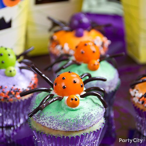 Gumball Spider Cupcake