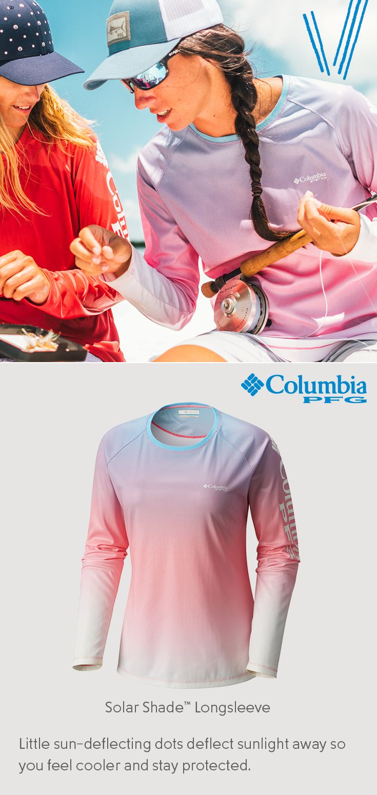 Forget the weather. Our Solar Shade™ Long Sleeve is equipped with Omni-Wick®, Omni-Shade® UPF 50 protection. So when you're on the boat, the sun and the waves will have nothin' on you.