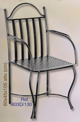 Las 25 mejores ideas sobre sillas de hierro forjado en for Modelos de sillas de hierro