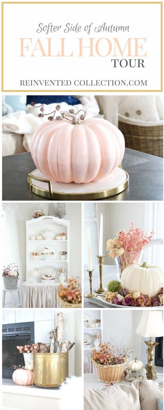 Great Fall Home Decor Ideas - Autumn Home Tour with the softer side of fall- faded tones of color. How an Alaskan home creates a French Country Fall style and brings nature indoors.