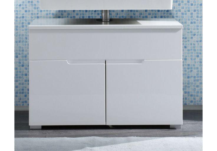 Waschbeckenunterschrank weiss Hochglanz Woody 32-00073