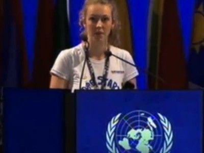 17 Year-Old Brittany Trilford Addresses World Leaders at the UN Earth Summit