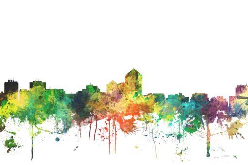 Albuquerque New Mexico Skyline -prints form 58.00