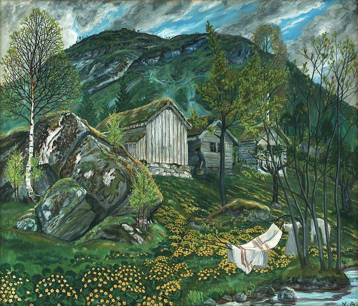 Nikolai Astrup (Norwegian, 1880-1928) Spring Mood by Old Cotter's Farm