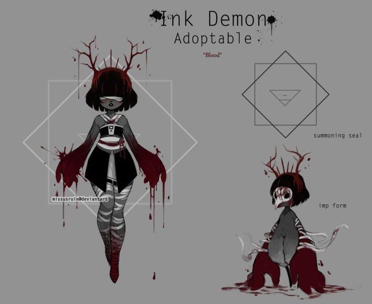 Ink Demon *blood* [open] by missusruin on DeviantArt
