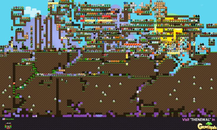 This is my first world in Growtopia. :)