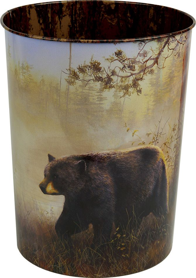 Black Bear Scene Waste Basket - American Expedition