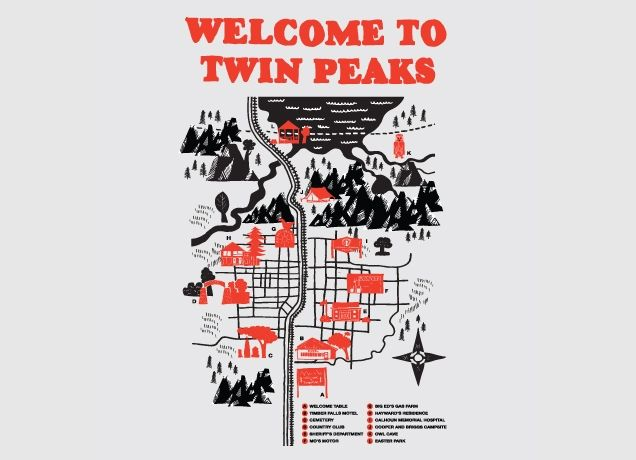 """""""Welcome to Twin Peaks"""": Peaks Maps, Logs, Guys Style, Twin Peaks, Art Prints, Maps Art, T Shirts, Products, Design"""
