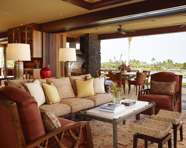 15 Exotic Tropical Living Room Designs To Make You Enjoy The View Even More