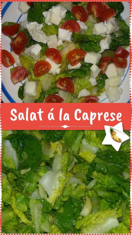 #Blutgruppen #Ernährung und #Diät. #Rezeptideen für Blutgruppe 0. #Salat à la #Caprese mit #Tomaten und #Mozzarella.