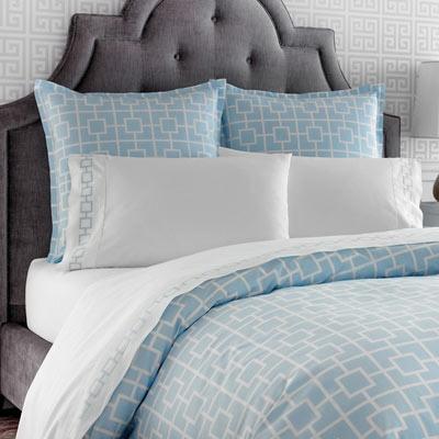 Jonathan Adler Geometric Light Blue Duvet Set