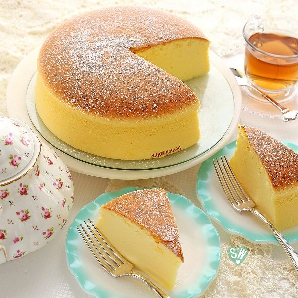 SugaryWinzy Soft and Light as Air Japanese Cheesecake