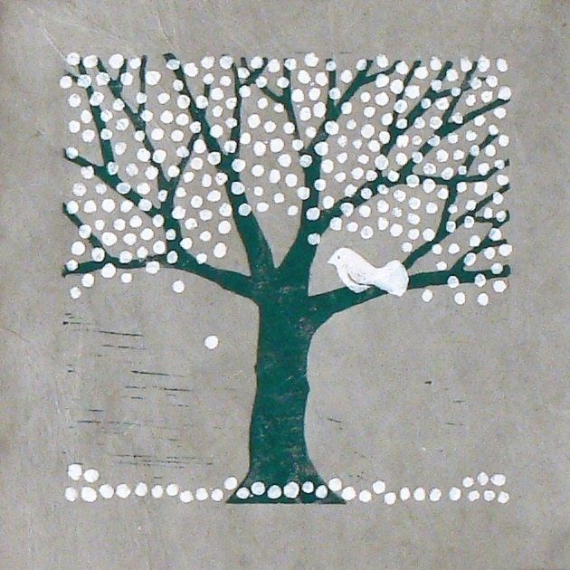 Blossom Tree Lino Cut Print