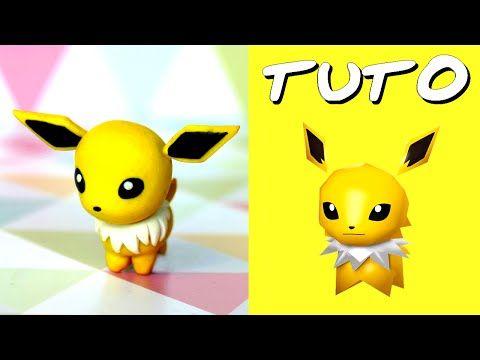 TUTO FIMO   Phyllali / Leafeon (de Pokémon Rumble World) - YouTube
