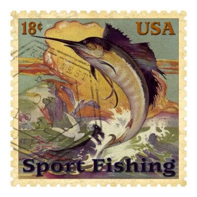 Sport Fishing reproduction procédé giclée