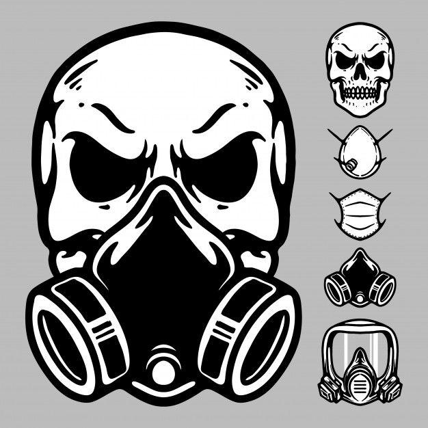Skull Mask Graphic Illustration Graphic Illustration Gas Mask Drawing Skull Illustration