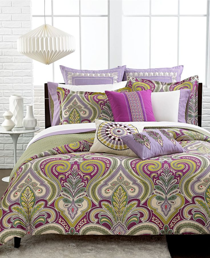 Echo Bedding, Vineyard Paisley Comforter and Duvet Cover Sets - Echo - Bed & Bath - Macy's