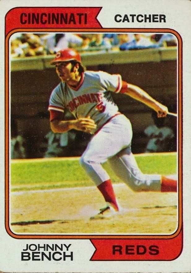 Nice Baseball Card Values, Baseball Star, Reds Baseball, Baseball Cards, Johnny  Bench,