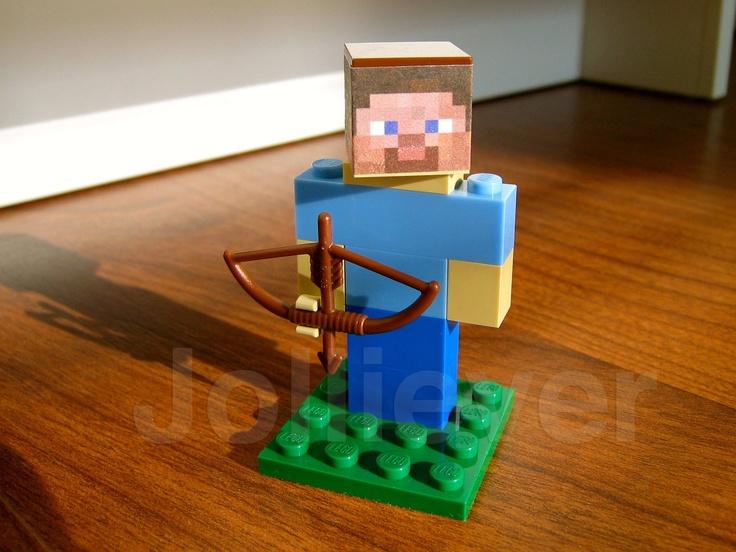 how to build lego steve