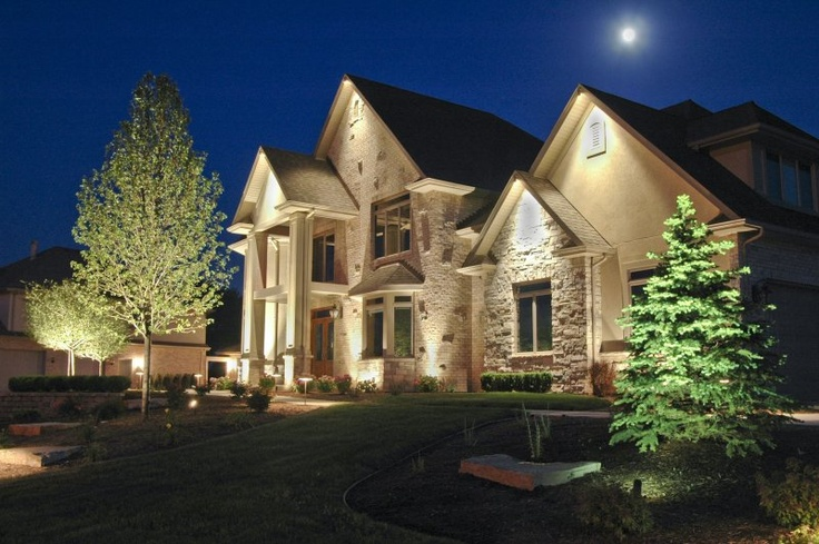17 best images about house down lighting on pinterest for Landscape accent lighting