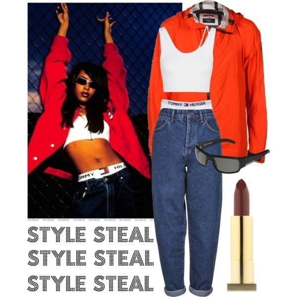 aaliyah tommy hilfiger overalls