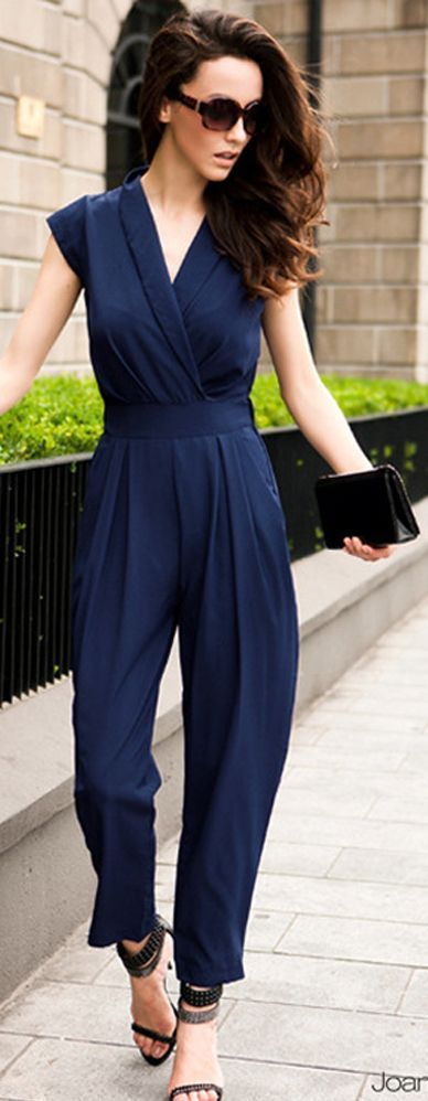 Navy Formal Event Jumpsuit